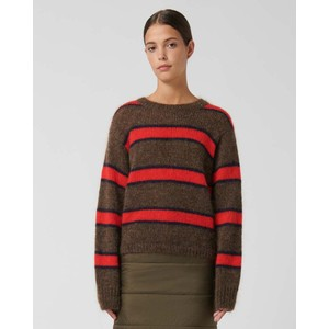 Loreak Franja Striped Short Jumper Toffee