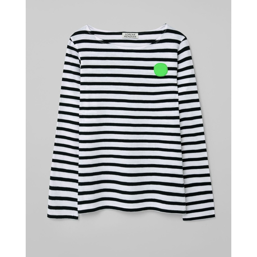 Loreak Striped Dotgum L/S Tee White/Black/Green