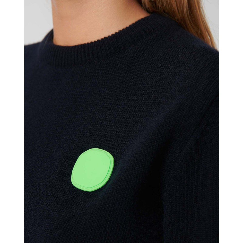 Loreak Dotgum Round Neck Jumper Navy/Green