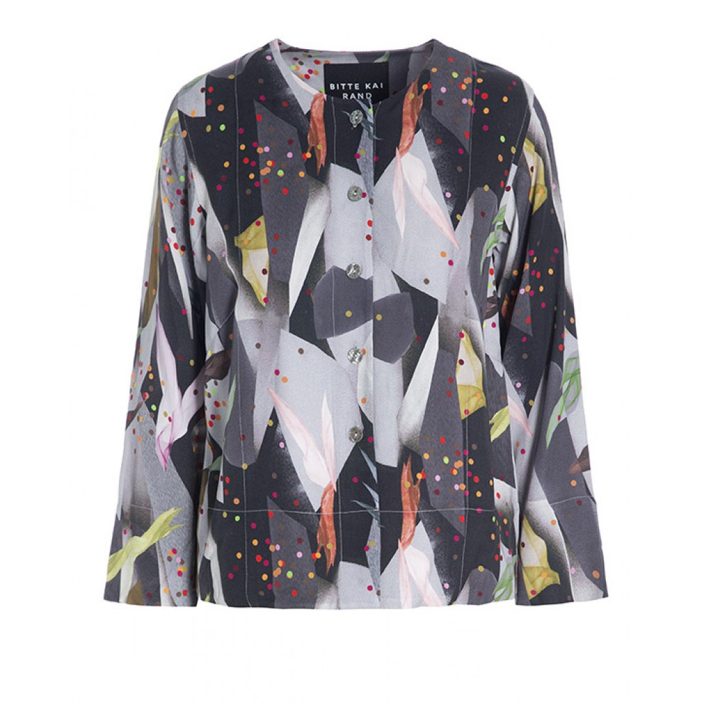 Bitte Kai Rand Confetti Collage Blouse Grey/Multi