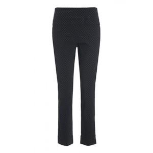 Square Dot Fold Top Trousers Black/Brown