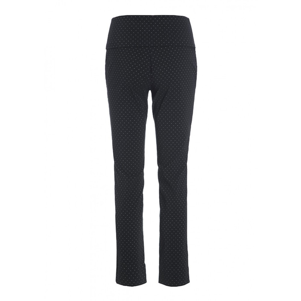 Bitte Kai Rand Square Dot Fold Top Trousers Black/Brown