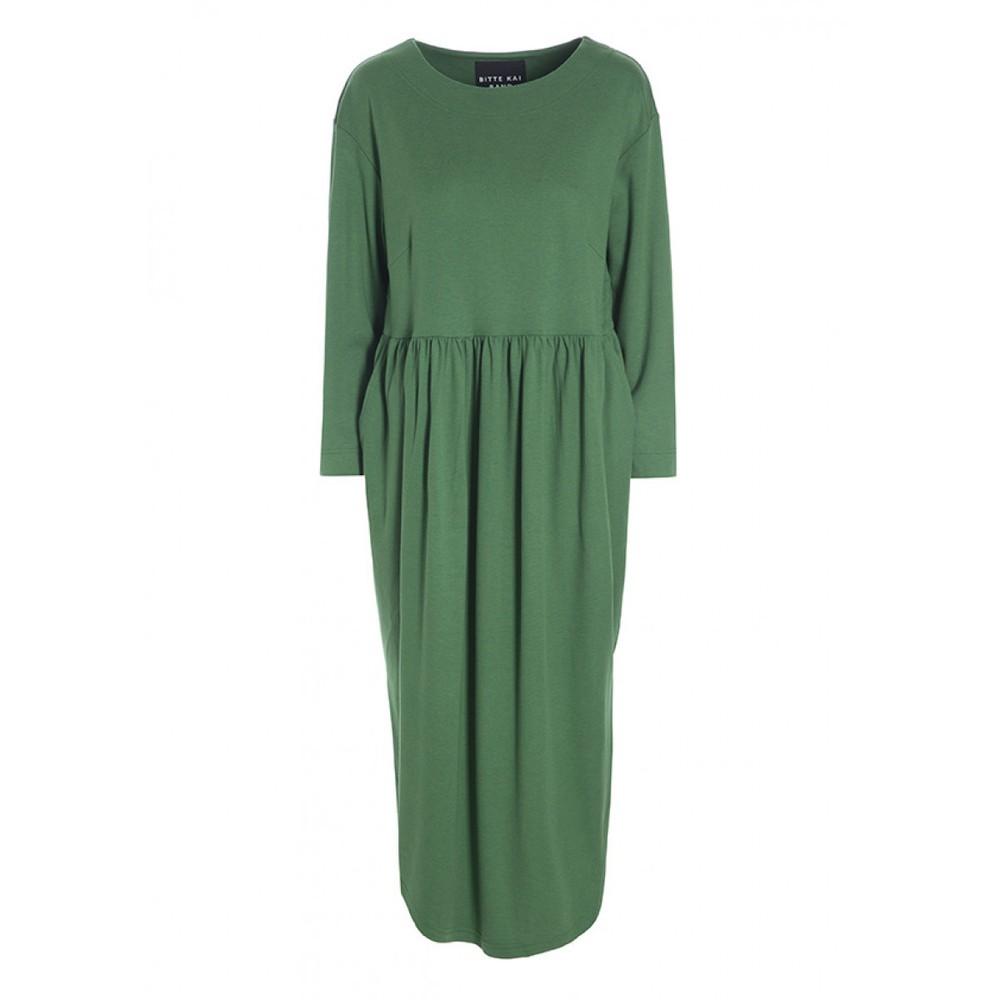 Bitte Kai Rand Fuyu Wide Nk Curved Hem Dress Green