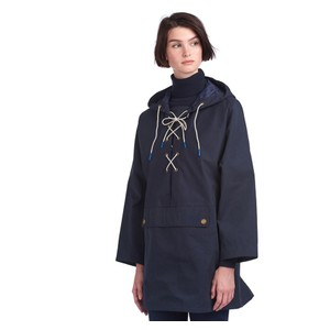 Pippa Hooded Rain Jacket Navy