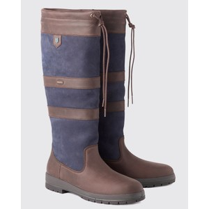 Galway Ex-Fit Boots Navy/Brown
