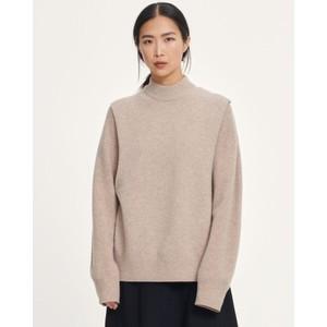 Amary Hi Nk Knit Vest Warm Grey Melange