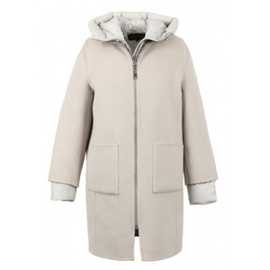 Liliana 3 in 1 Wool/Puffa Coat Ivory