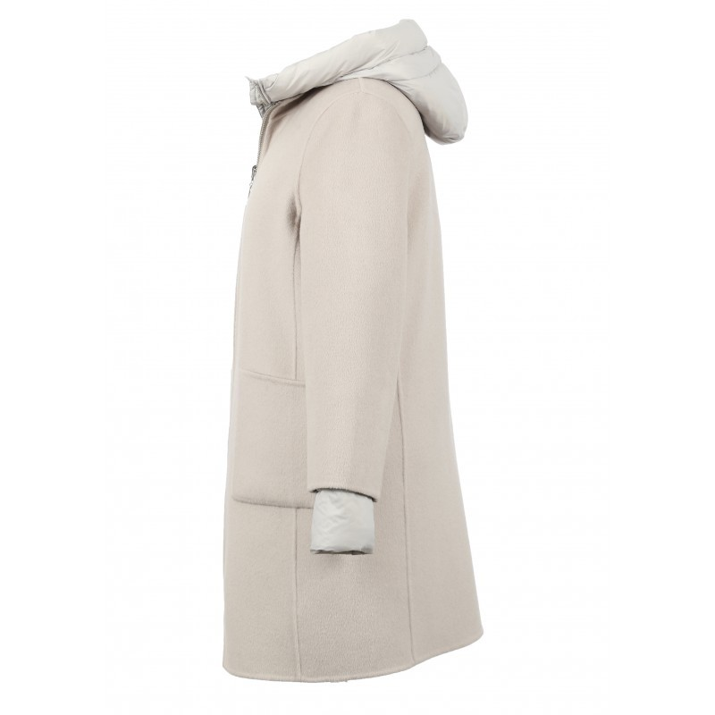 Oakwood Liliana 3 in 1 Wool/Puffa Coat Ivory