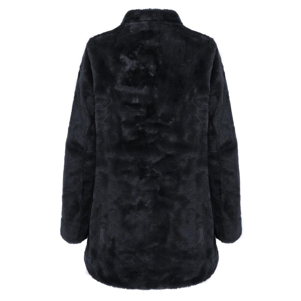 Rino & Pelle Nonna Faux Fur Coat Navy