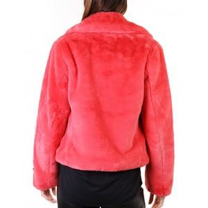 Rino & Pelle Juna Short Faux Fur Jacket Cranberry
