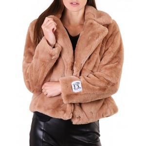 Rino & Pelle Juna Short Faux Fur Jacket in Woodsmoke