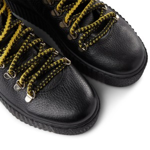 Shoe The Bear Agda Lace Up Boot-Leather Black