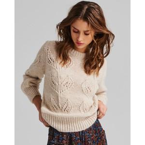Moliin Kirsten Leaf Knit Jumper in Off White