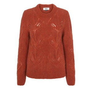 Kirsten Leaf Knit Jumper Rust Melange
