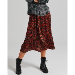 Moliin Amira Belted Leopard Skirt Sequoia/Forest