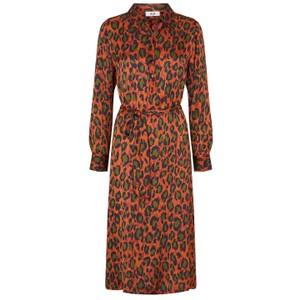 Moliin Denny Belted Leopard Dress Sequoia/Forest