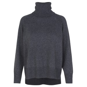 Funda Turtleneck Jumper Dark Grey Melange