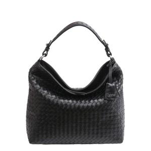 Elvi Weave Small Hobo Bag Black