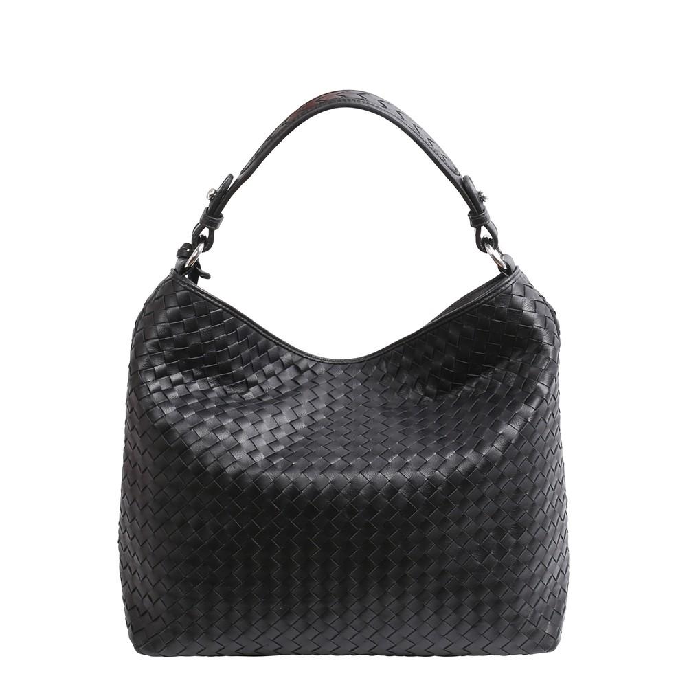 abro Elvi Weave Small Hobo Bag Black