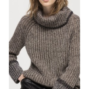 Luisa Cerano T/Nk Chunky/Lurex Jumper Chocolate/Gold