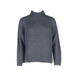 Hartford Myassa H/Neck Rib Trim Knit Blue Melange