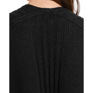 Marc Cain Rib Trim Open Long Cardi Midnight Blue