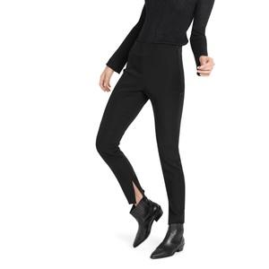 Split Hem Slim Trousers Black