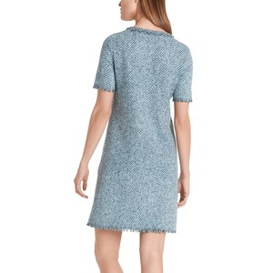 Marc Cain S/S Herringbone Knit Dress Celeste
