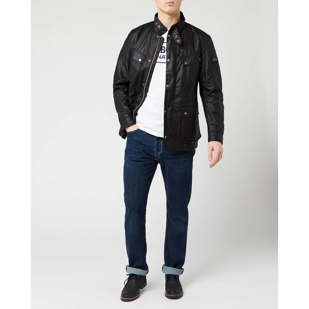 Barbour International Duke Wax Jacket Black
