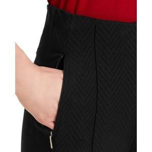 Marc Cain Herringbone Straight Trousers Black