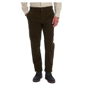 Neuston Stretch Cord Trousers Dark Olive