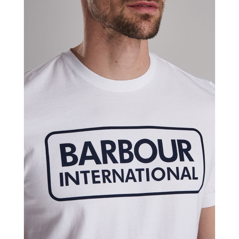 Barbour International Essential Large Logo Tee White