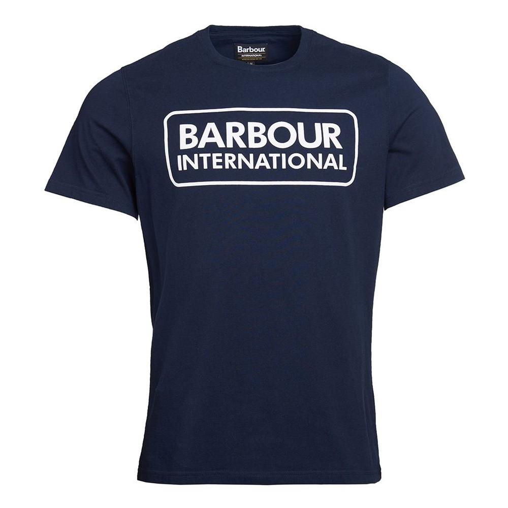 Barbour International Essential Large Logo Tee International Navy
