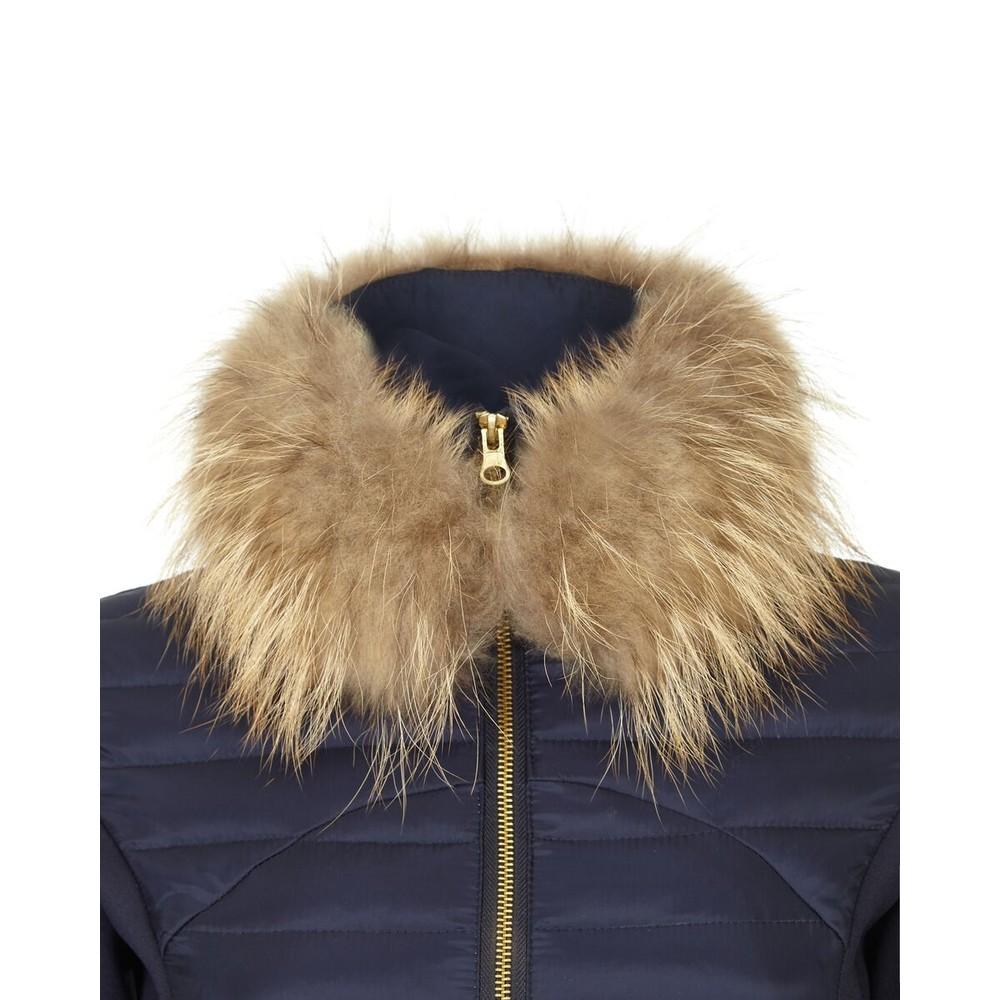 Guinea Puffer Jacket Fur Collar Navy