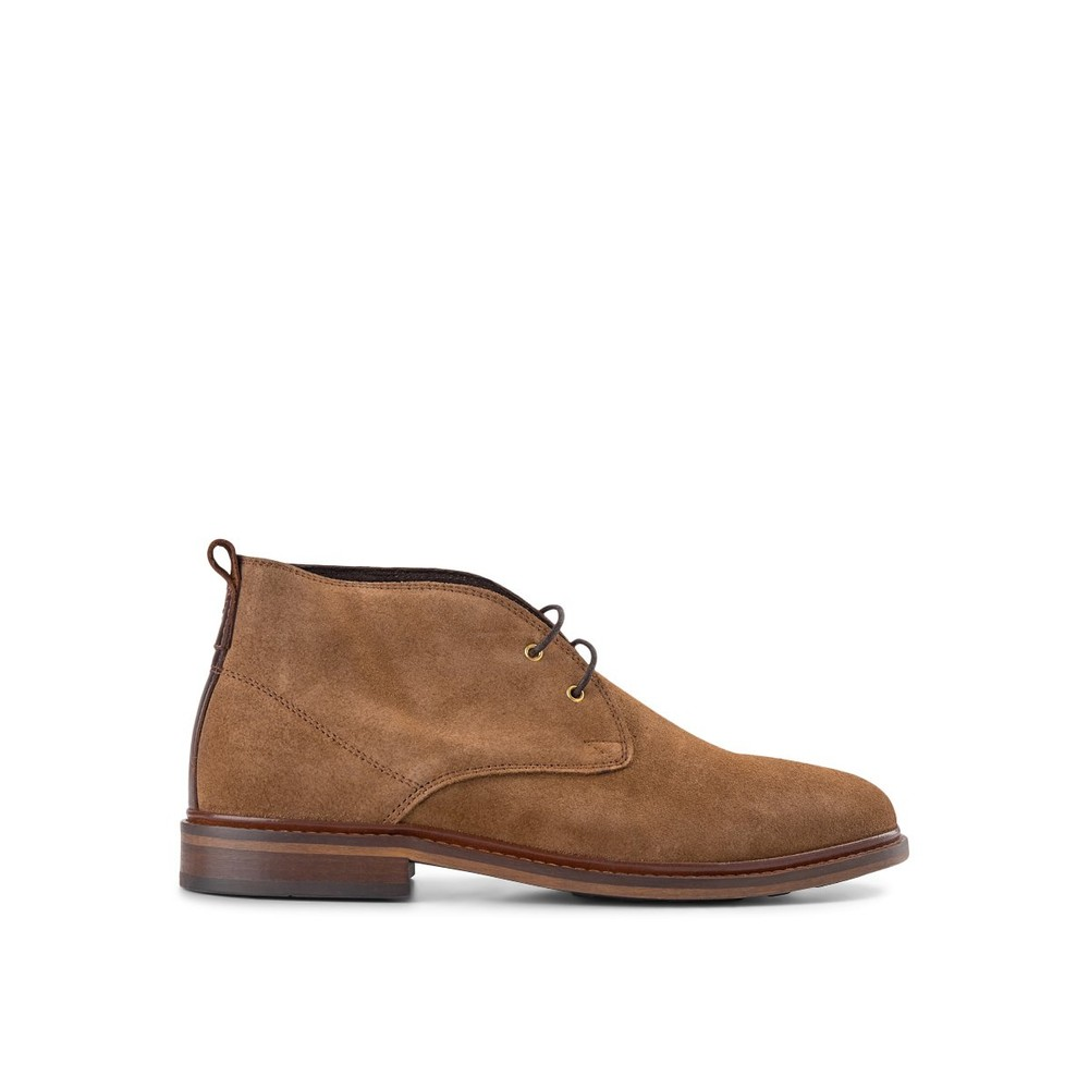 Shoe The Bear Phoenix Suede Lace Up Boot Tobacco