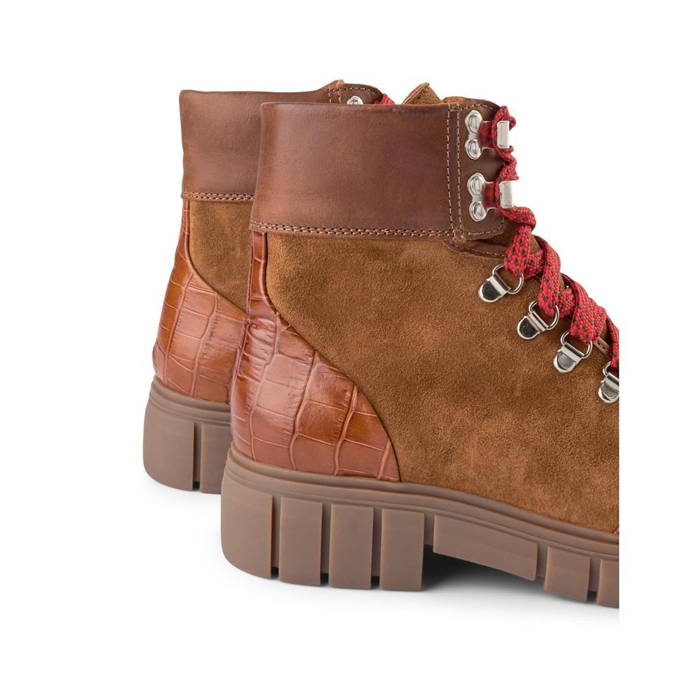 Shoe The Bear Rebel Hiker Croc Boot Tan
