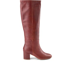 Bess Knee High Pull On Boot Brown