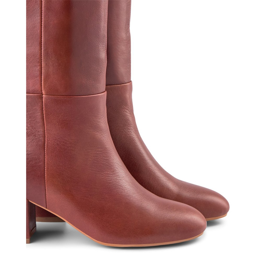 Shoe The Bear Bess Knee High Pull On Boot Brown