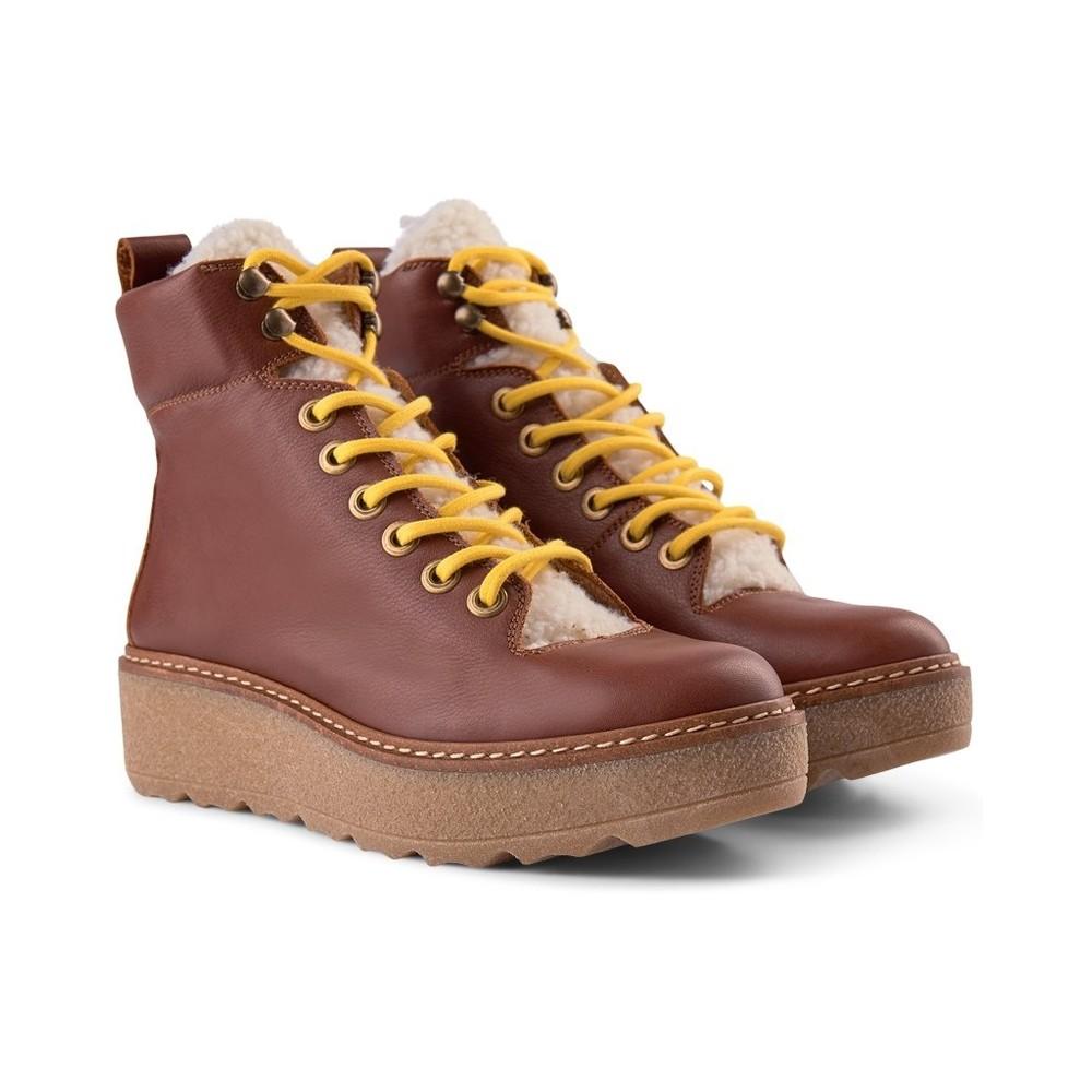 Shoe The Bear Bex L Platform Hiker Boot Brown