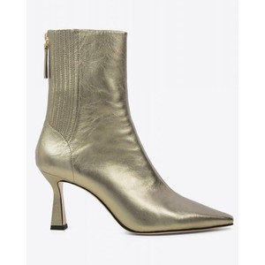 Chelsea Heeled Metallic Boot Gold