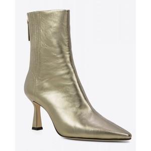 Lola Cruz Chelsea Heeled Metallic Boot Gold