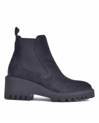 Alpe Chunky Sole Stretch Ankle Boot Dark Navy