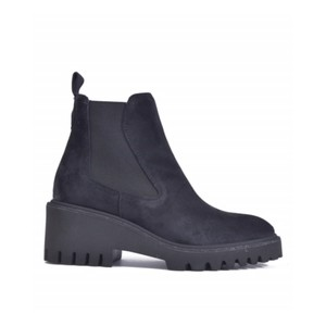 Chunky Sole Stretch Ankle Boot Dark Navy