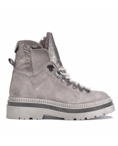 Alpe Chunky Suede Hiker Boot Polar