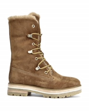 Alpe Lace Up Tall Suede Boot Tan