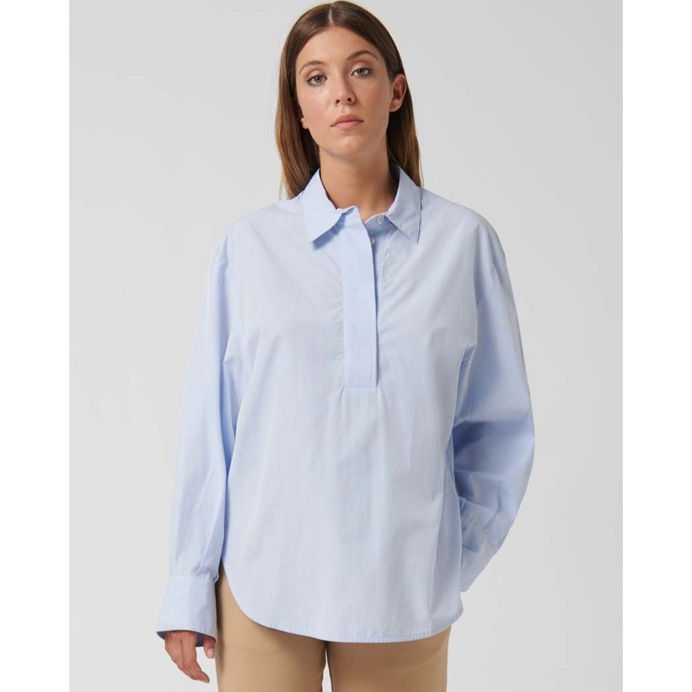 Loreak Lotti Balloon Slv Tunic Top Pale Blue