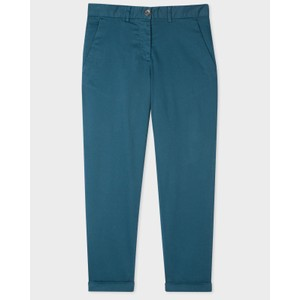 Boyfriend Fit Trousers Petrol Blue