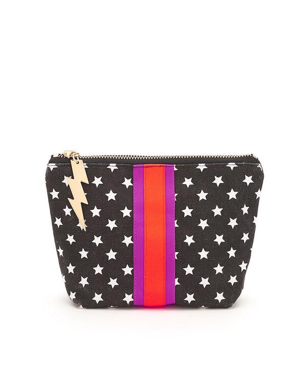 Cockatoo Stars Make Up Bag Black/White
