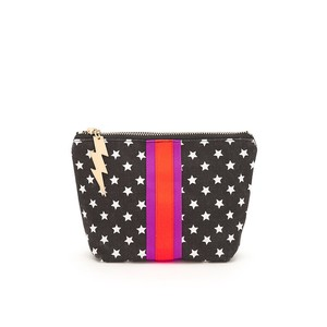 Stars Make Up Bag Black/White