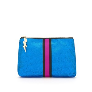 Glitter Clutch Bag Bright Blue